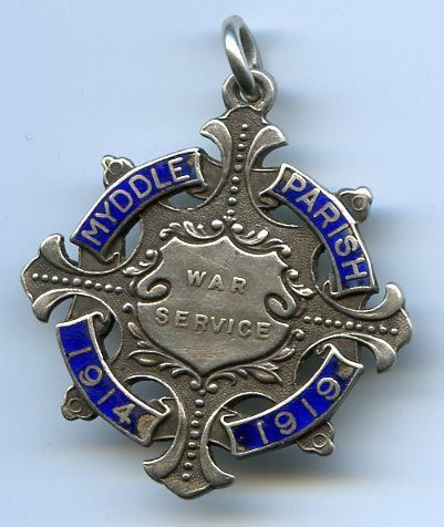 Myddle Parish War Service Medal 1914 to 1919